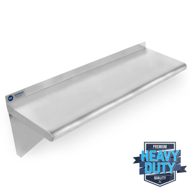 "OPEN BOX - Stainless Steel Commercial Kitchen Wall Shelf Restaurant - 14"" x 36"""