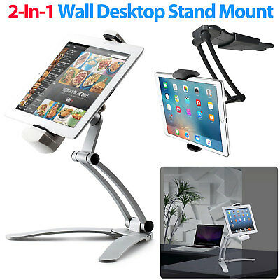 """Kitchen Wall / Desktop Lazy Mount Stand Holder Universal For 7"""" -11"""" Tablet iPad"""