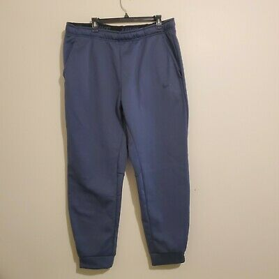 Men's NIKE Dri-FIT Grayish Blue Therma Fleece Training Pants XX-Large