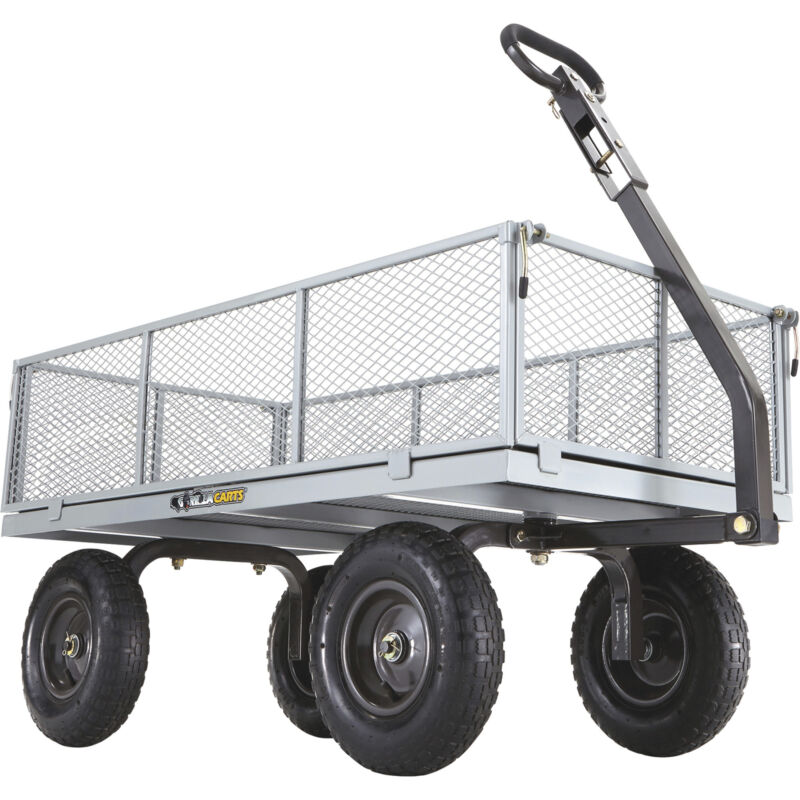 Gorilla Carts Heavy-Duty Steel Utility Cart - 1000-Lb. Capacity