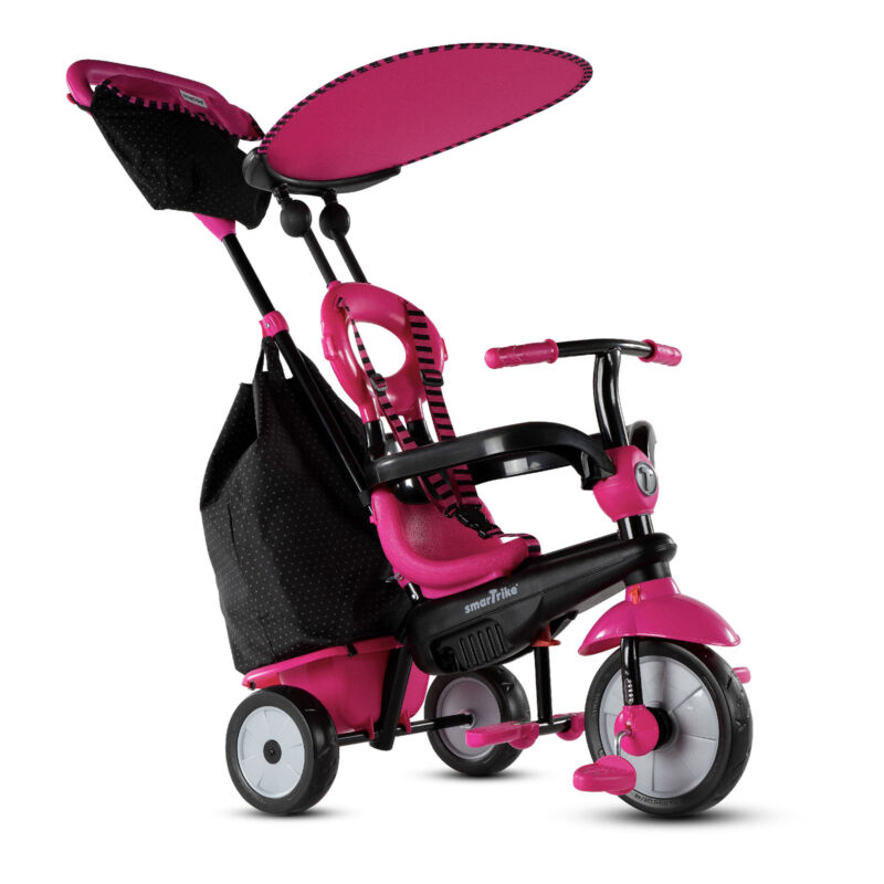 smarTrike Adjustable Vanilla Plus Baby and Toddler Tricycle Push Bike (Open Box)