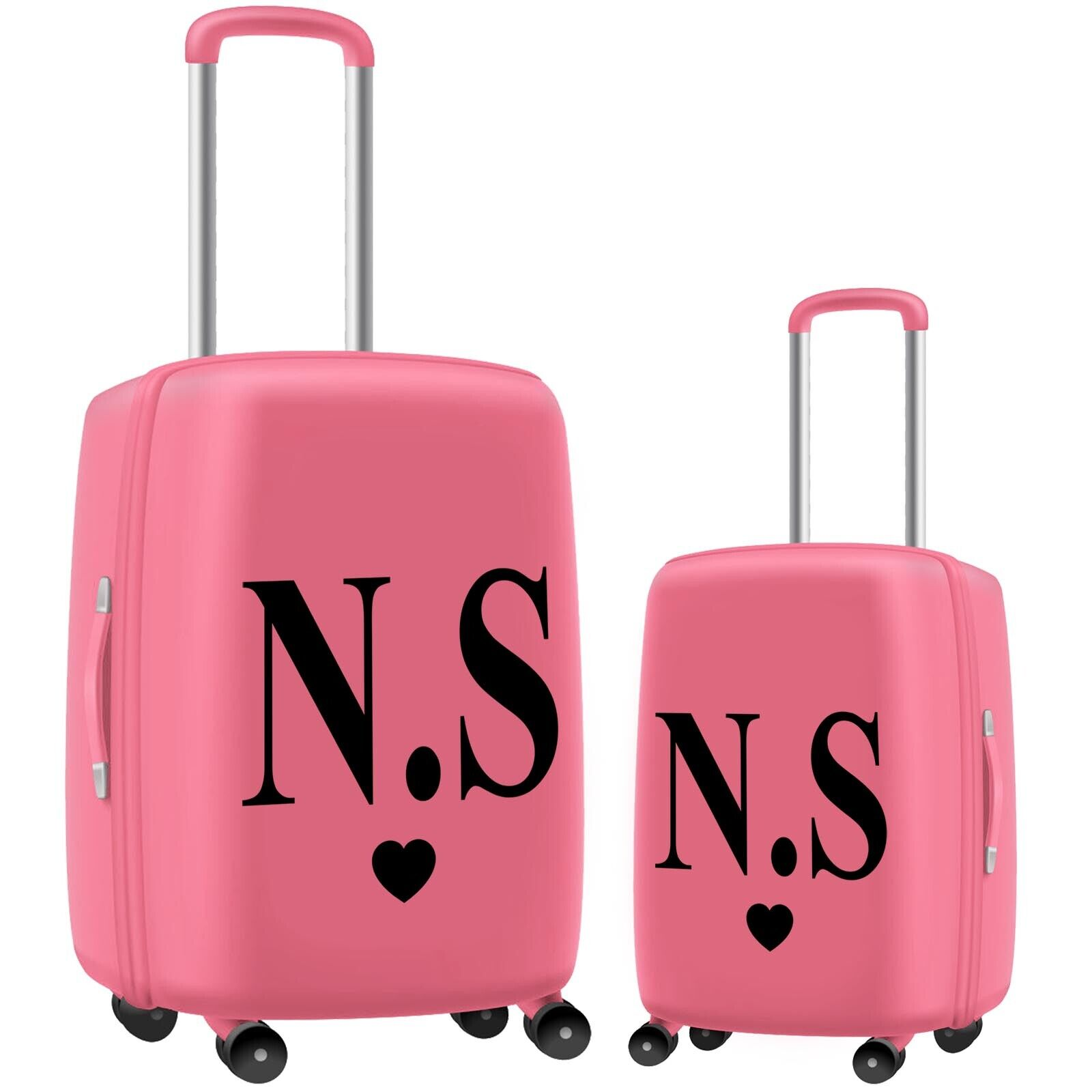 Home Decoration - Travel  Holiday Suitcase STICKER Initials Name Personalised Decal Vinyl