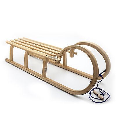 Hörnerrodel Schlitten Holz-Fee Colint Baran 110 cm Hörnerschlitten Holzschlitten