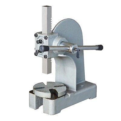 Steel Core 1 Ton Arbor Press All Metal Construction Maximum 2000 Lb Force
