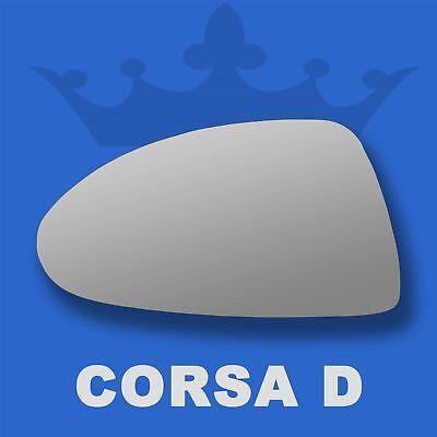 Vauxhall Corsa D wing door mirror glass 2006 2014 Left Passenger side Spherical