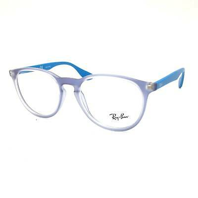 $310 RAY-BAN WOMENS BLUE EYEGLASSES FRAMES GLASSES OPTICAL CLEAR LENS RB 7046