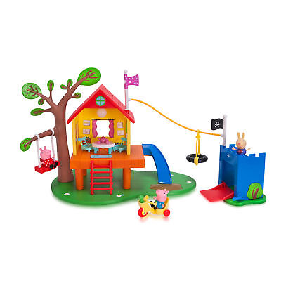 Peppa Pigs Treehouse And Georges Fort Playset