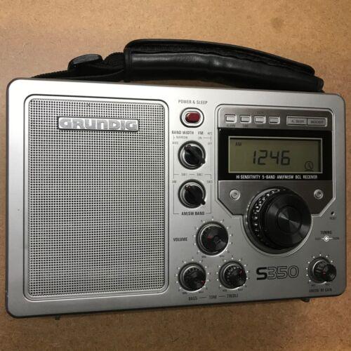 Grundig S350 Field Radio AM/FM/FM Stereo/Shortwave Receiver - Fully Operational