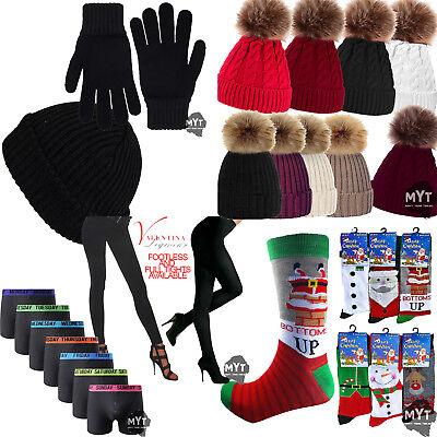 Neu Mens Womens Socken Boxer Menge Strumpfhose Pudelmütze Warm Winter - Womens Pudel