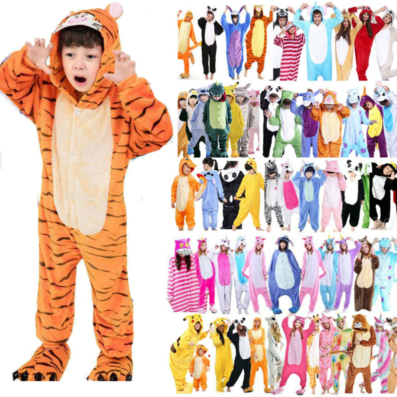 Tier Overall Erwachsene Kinder Jungen Cosplay Kostüm Kigurumi Pyjama Karneval
