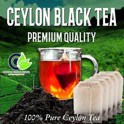 Black tea Pure Ceylon - Premium Quality Sri Lanka Healthy drink 25-200 Tea bags Sri Lanka Black Tea