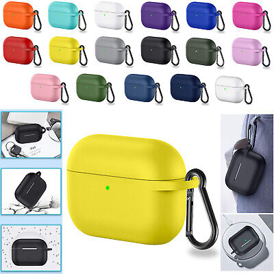 For Apple AirPods Pro 3 2 1 Case Cover Silicone Skin Ultra Slim Holder With Hook