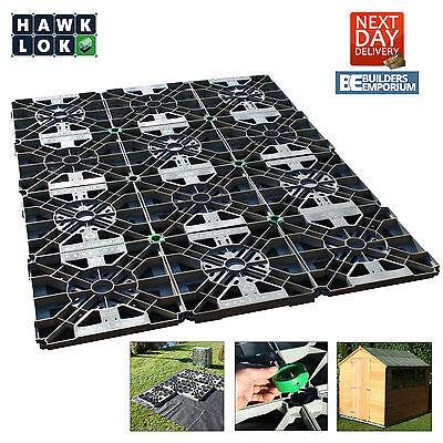 HAWKLOK SHED BASE KIT FOR GARDEN SHED/BUILDING ( ALL SIZES) + MEMBRANE & CLIPS
