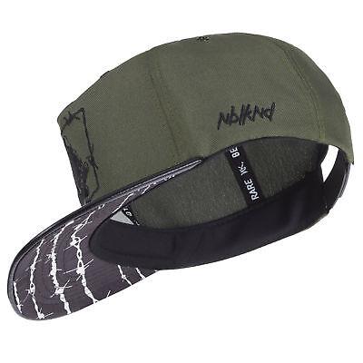 Nebelkind Snapback Cap oliv grün Stacheldraht Muster mit Stickereien edel onesiz