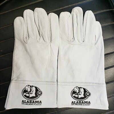 Lg Tig Gloves - All Leather - All White - Perfect Short Cuffs - For Tig Welding