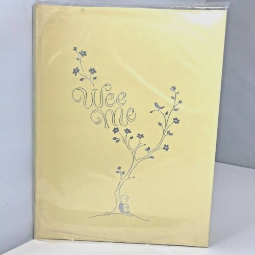 Vintage Unused Wee Me Baby Book 1965 Gorgeous! Yellow Unisex Old Fashioned