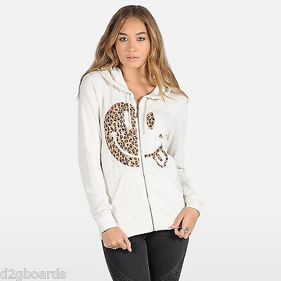 Je Womens Hoodie (NWT VOLCOM Wash Out Zip HOODIE  Womens Size Small  NWT Cream New je157)