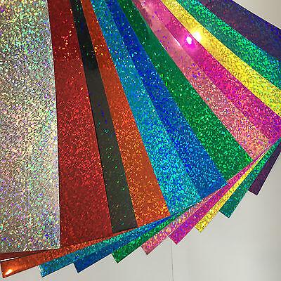 Holographic Sequins Sign Vinyl Sample Pack 12 Sheets 8 X 12 Inch Hologlitter