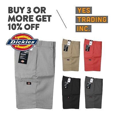 """DICKIES SHORTS 42283 MENS WORK SHORTS 13"""" INSEAM MULTI-POCKET LOOSE FIT RELAXED"""