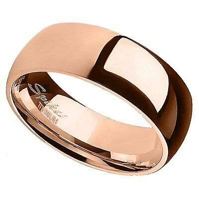 Wedding Anniversary Colors (Titanium Copper Color Minimalist Ring Rose Gold Wedding Band Anniversary)