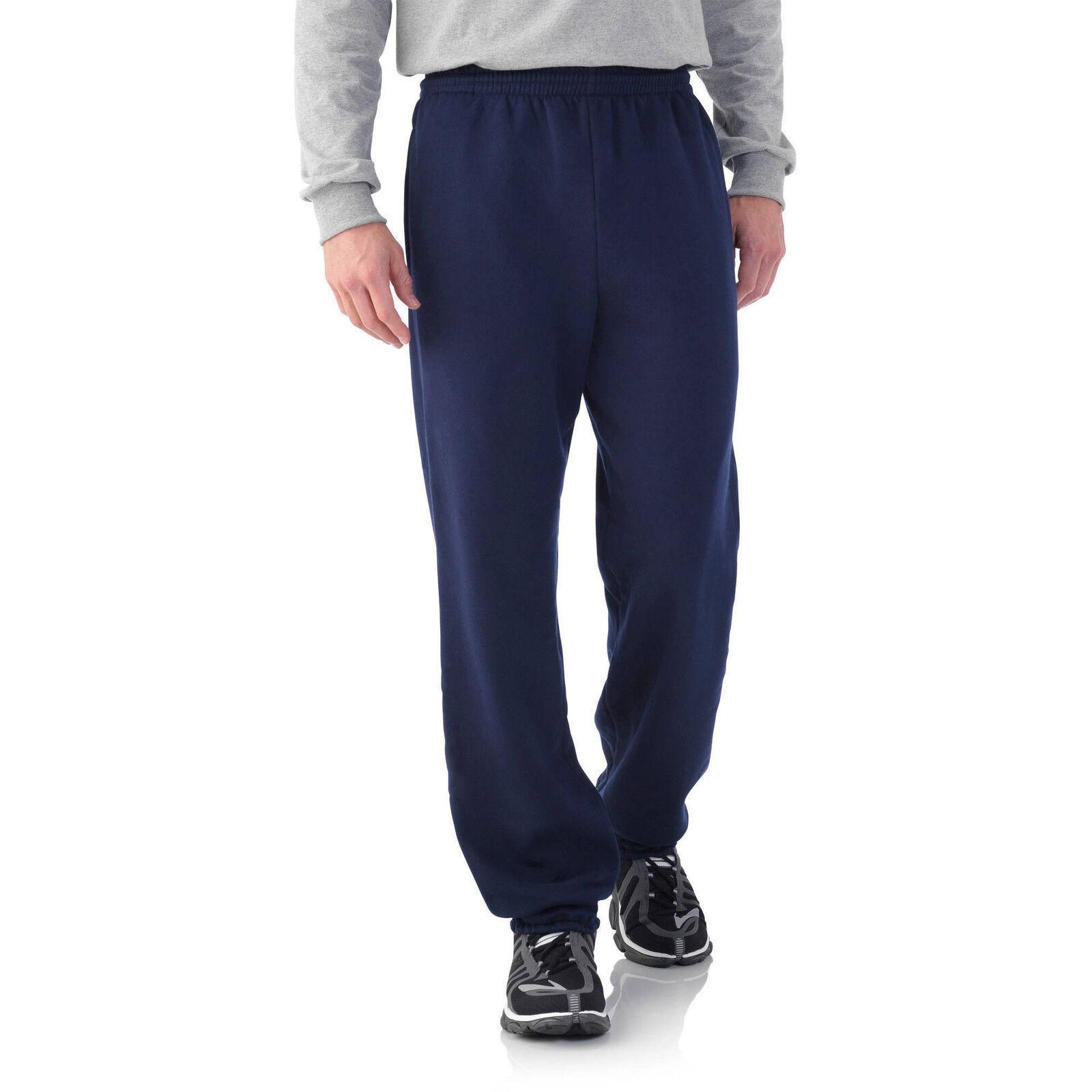 Fruit of the Loom Men's Fleece Elastic Bottom Pant NEW Size