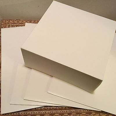 5 LARGE DESSERT BOXES  FOR COOKIES CAKES TREATS  9 INCHES SQUARE 4 INCHES TALL
