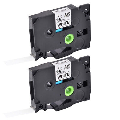 2pk Tze-231 Tz-231 Label Tape For Brother P-touch Pt-d400 Black On White 12mm