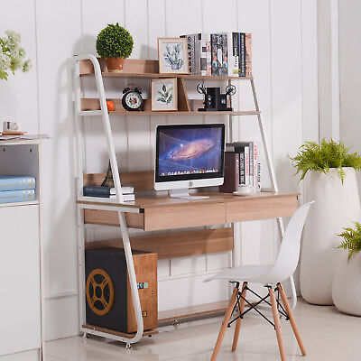 Emall Life Computer Desk With Bookshelf And Drawers Pc Laptop Study Table