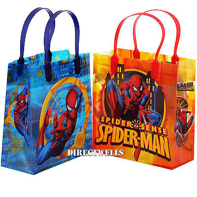 Spiderman Marvel Authentic Licensed Medium Party Favor Goodie Gift Loot 12 Bags (Spiderman Party Bags)