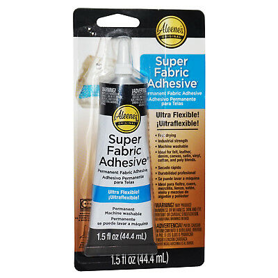 Aleene's SUPER FABRIC ADHESIVE Permanent Glue ULTRA FLEXIBLE Industrial Strength for sale  Shipping to India