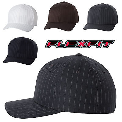 Flex Fit Pinstripe Hat - FLEXFIT - Baseball Hat, Pinstripe, Structured, Fitted Golf Cap, S/M, L/XL, 6195