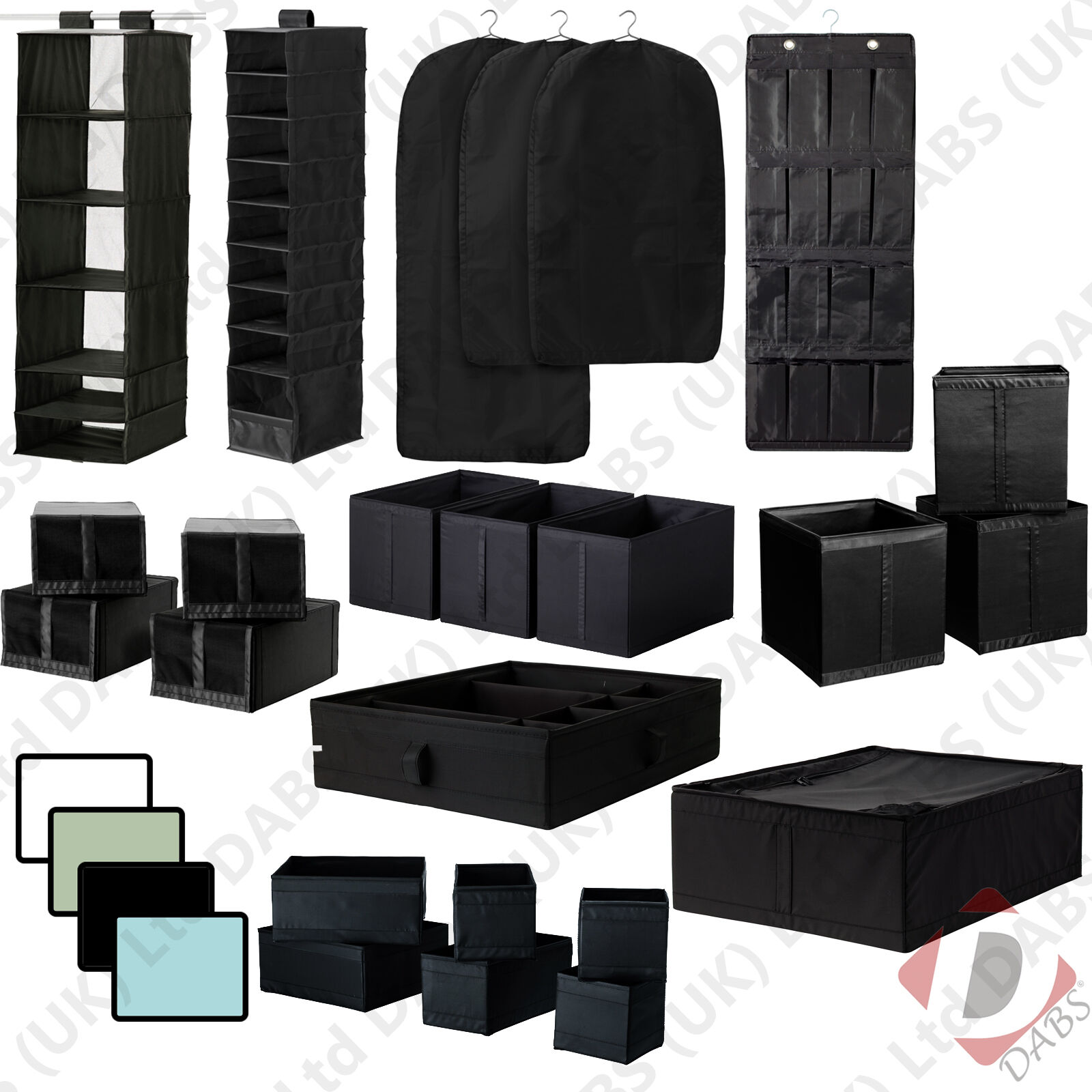 Ikea skubb hanging bedroom wardrobe clothes organiser shoe and storage boxes ebay - Types of shoe storage solutions for the bedroom ...