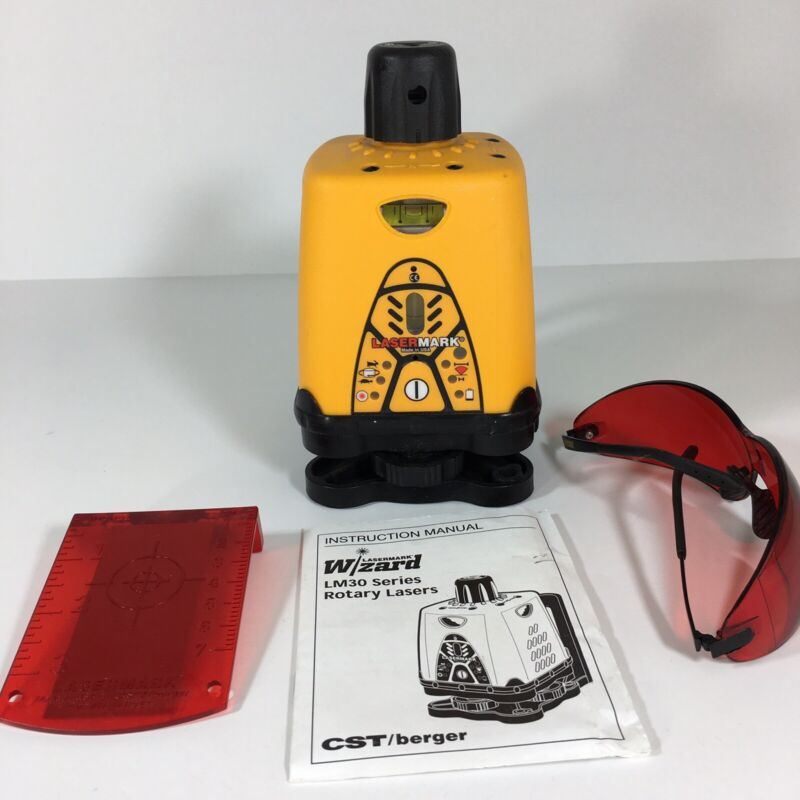 CST Berger LM30 LaserMark Wizard Manual Horizontal Vertical Rotary Laser Level