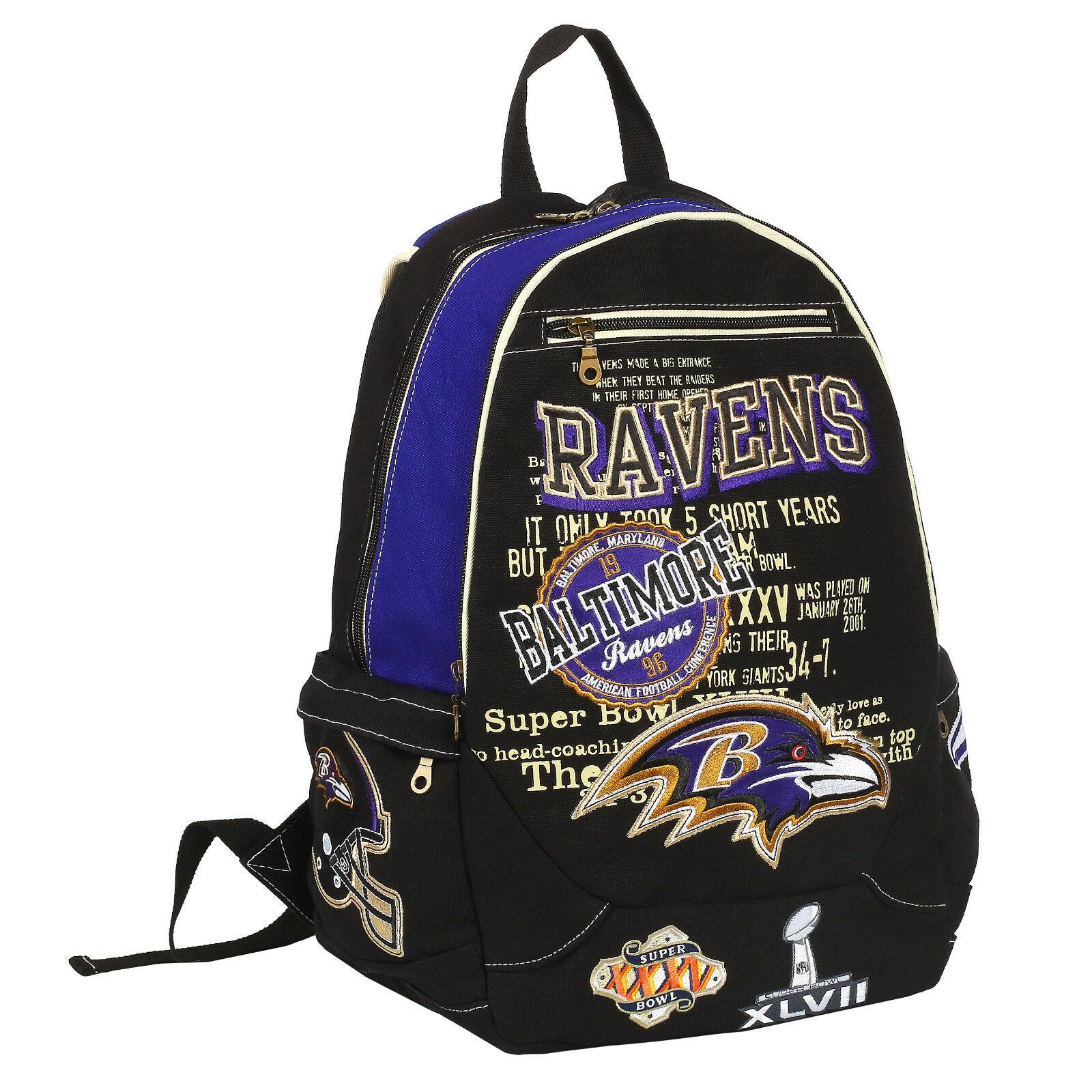 NFL Baltimore Ravens Historical Rucksack Backpack Tasche Bag Football