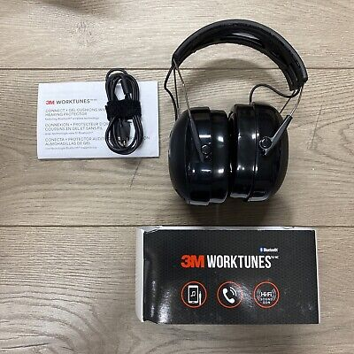3m Worktunes Connect Gel Ear Cushions Bluetooth Hearing Protector Headphones O