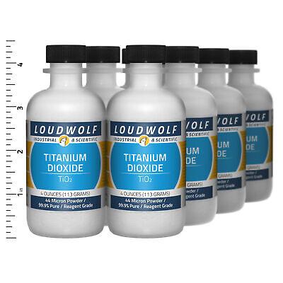 Titanium Dioxide 2 Lb Total 8 Bottles Reagent Grade 44 Micron Powder