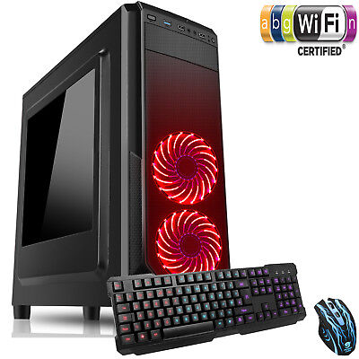 Computer Games - Ultra Fast AMD 4.1 Dual Core 8GB 1TB USB3 K&M Gaming PC Home Computer Strom WR