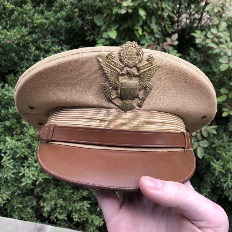 ORIGINAL WWII US Army Officer Visor Cap