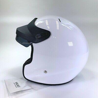 Snell SA2005 DOT Fiberglass Open Face Racing Helmet Small White S