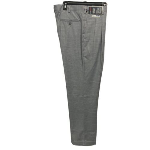Roundtree & Yorke Travel Smart Classic Fit pleated Cuffed Pants 36×29 Grey Clothing, Shoes & Accessories