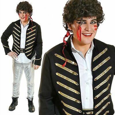 Adam Ant 1980s Kostüm Neue Romantische Prince Charming Herren Kostüm Pop - Schwarz Adam Kostüm