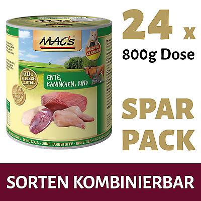 (2,79€/Kg) 24 x 800g MACs Katzenfutter (Sorten wählbar)
