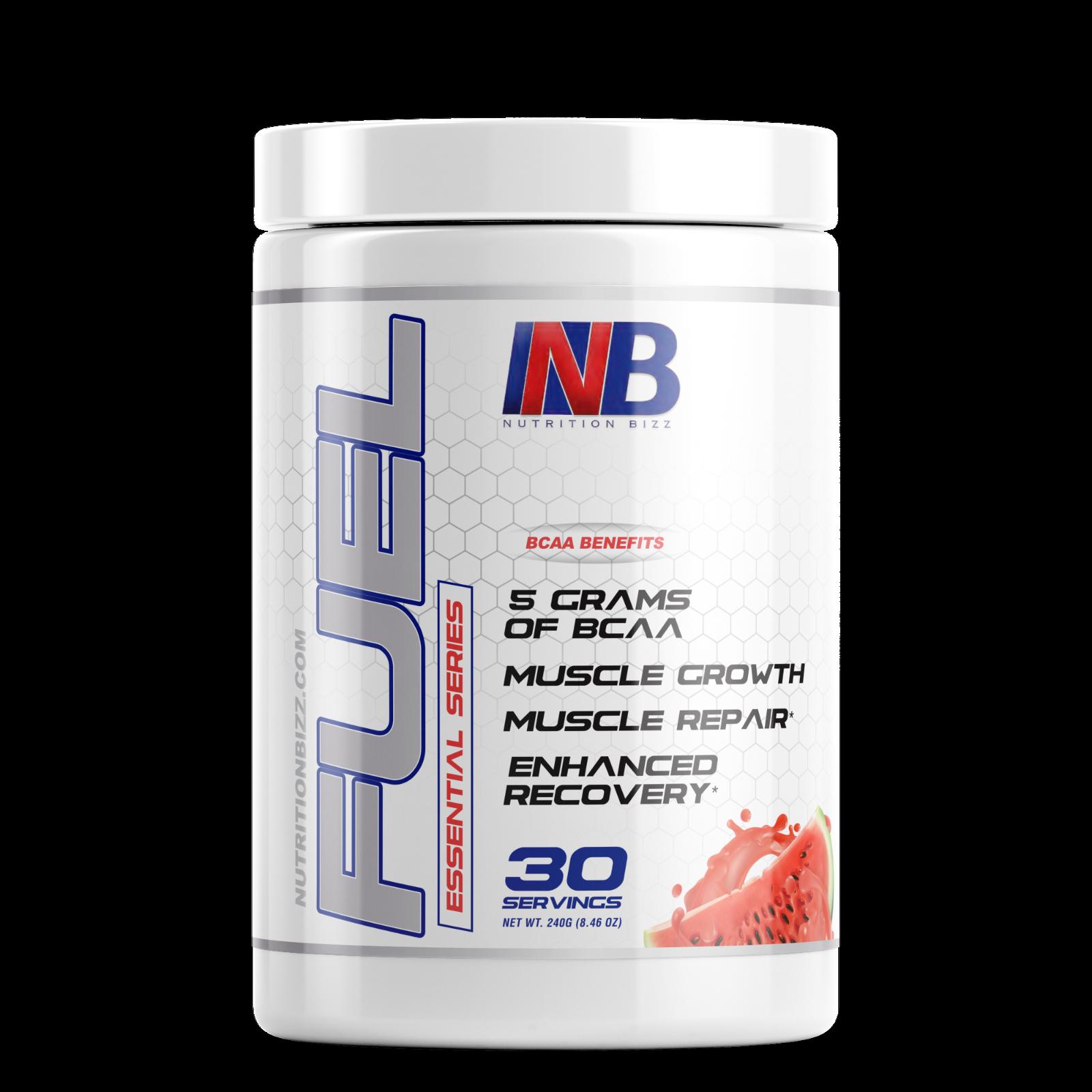 NutritionBizz Fuel 2:1:1 BCAA Powder Post Workout 30 Servings Free Ship