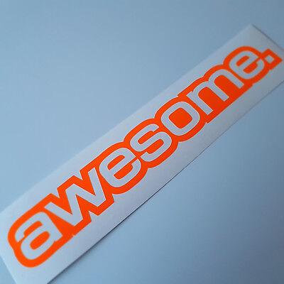 e Neon orange Auto Tuning Sticker dapper illest Dub Shocker  (Awesome Aufkleber)