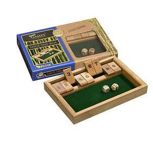 Shut the box 9er Bambus Würfelspiel Brettspiel