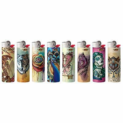 (New BIC Special Edition Tattoos Series Lighters Set of 8 Lighters (2019 Edition))