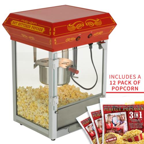 FunTime 4oz Theater Style Tabletop Popcorn Popper Machine Ma