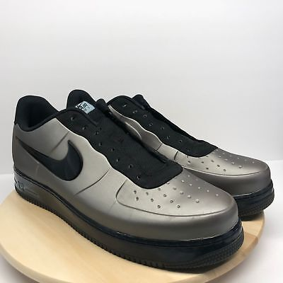 fb6943fc84cb6 Rare 2012 NIKE Air Force 1 One Foamposite Pro Low Pewter Sz 18 532461 001 (