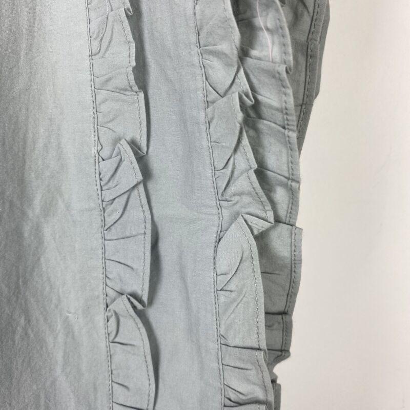RH Baby & Child Restoration Hardware Crib Skirt Gray Ruffle 100% Cotton