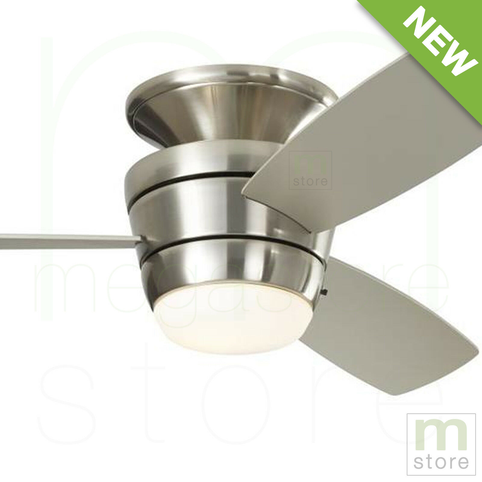 """44"""" Ceiling Fan with LED Light Kit and Remote Brushed Nickel"""